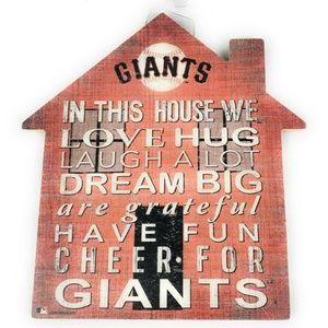 San Francisco SF Giants Baseball 12 In House Sign